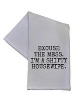 I'm A Shitty Housewife Funny Dish Towel 16x24 Cotton