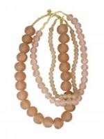 Recycled Glass Beads, Pink, Small