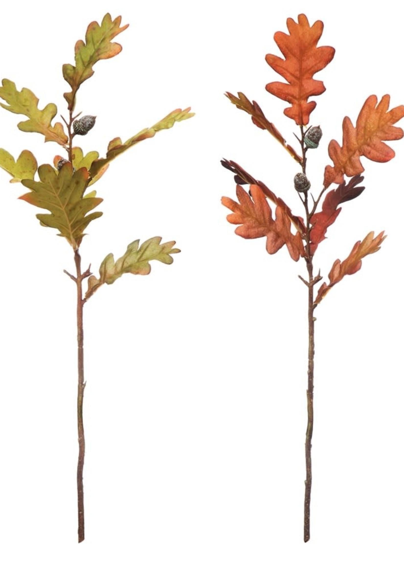 "20""H Faux Oak Leaf Pick w/ Acorns, 2 Colors"