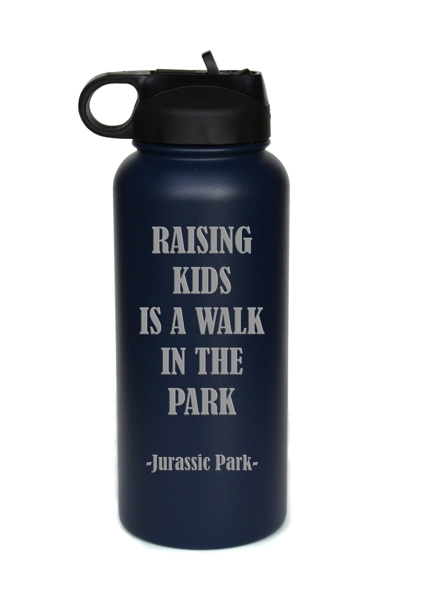 32 oz Water Bottle - Raising Kids - White