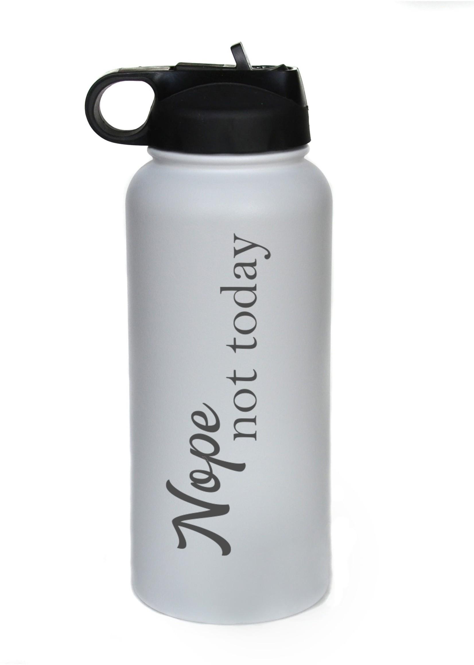 32 oz Water Bottle - Not Today - Black