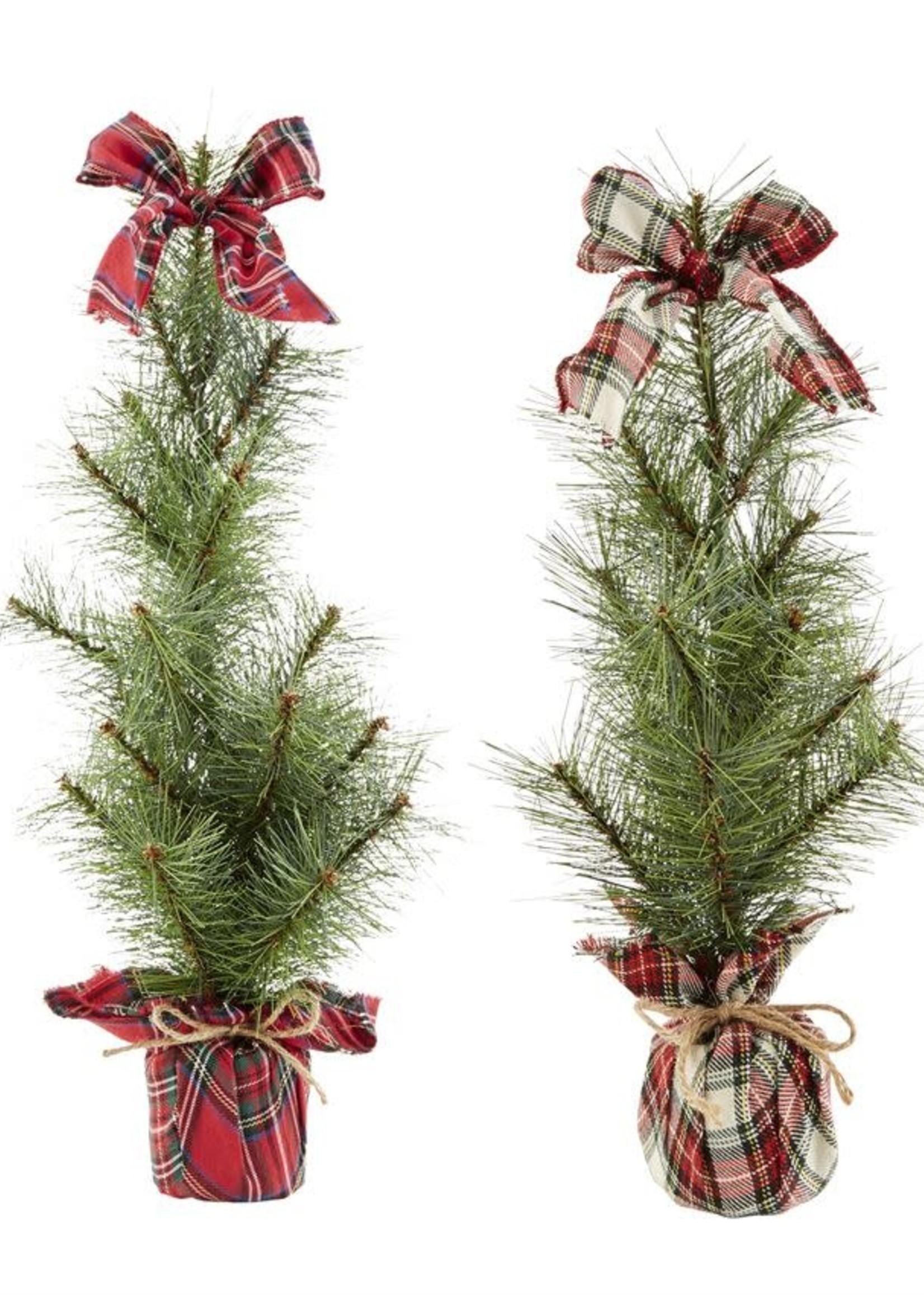 LG FAUX TREE TARTAN SITTER