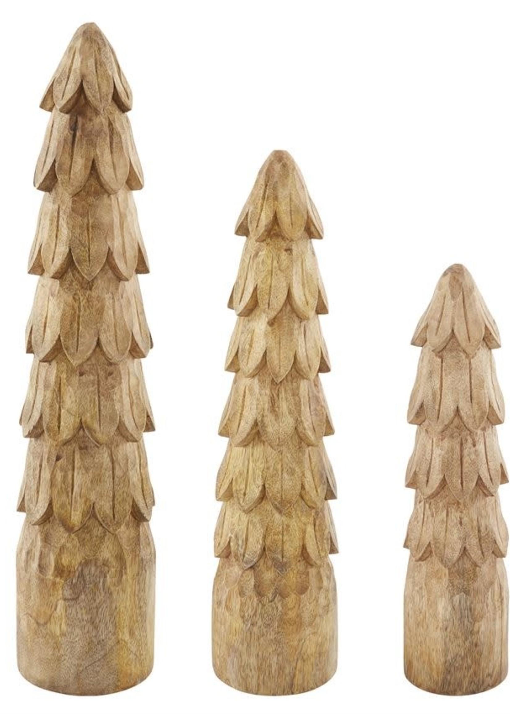 MEDIUM CARVED WOOD TREE SITTER