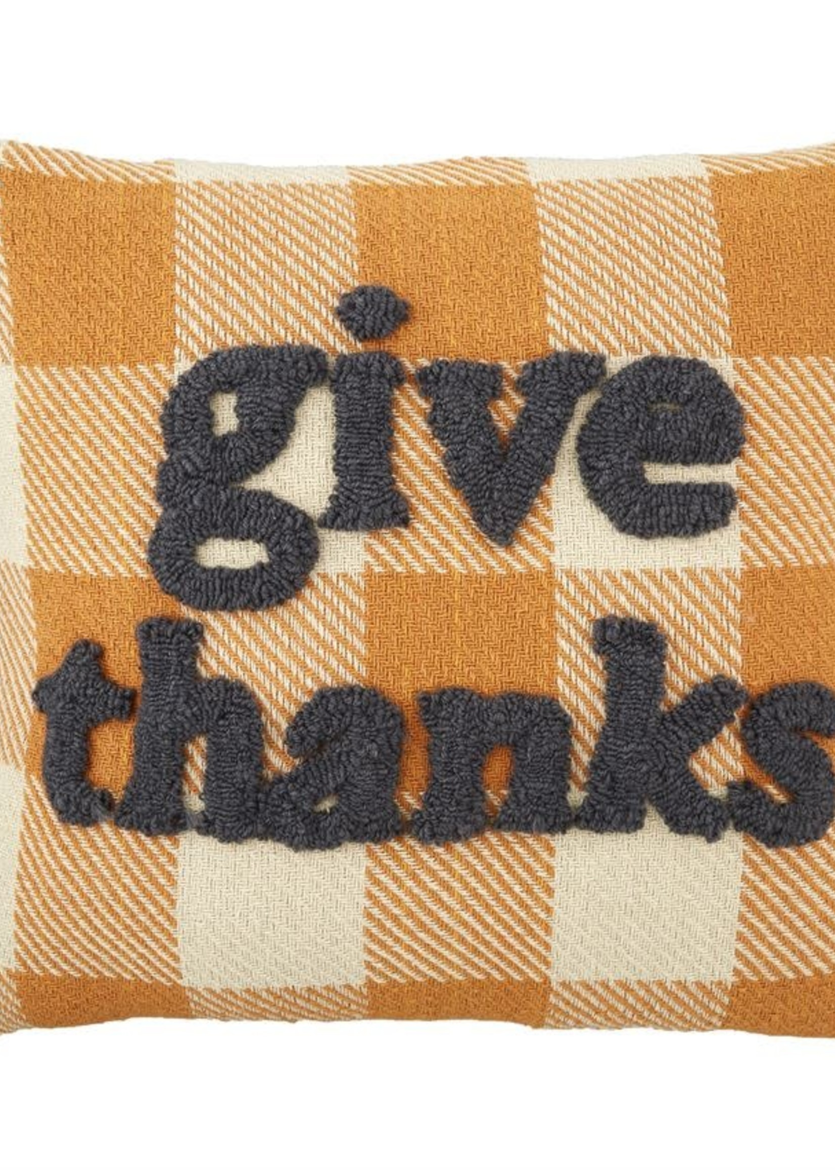 GIVE THANKS TUFTED PILLOW