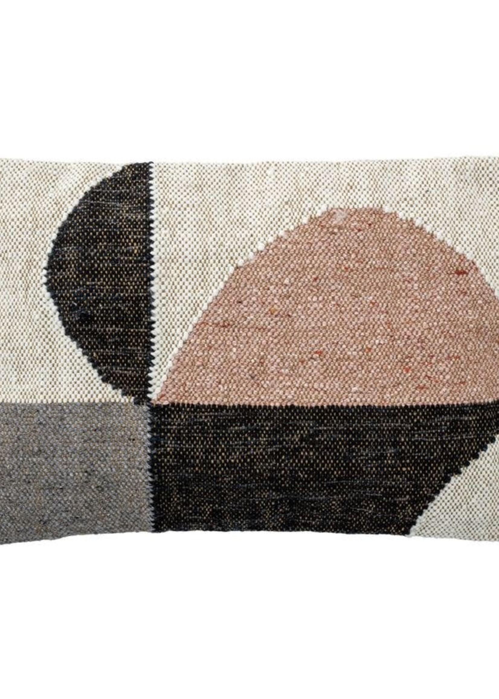 "24""L x 16""H Woven Cotton Lumbar Pillow, Multi Color"