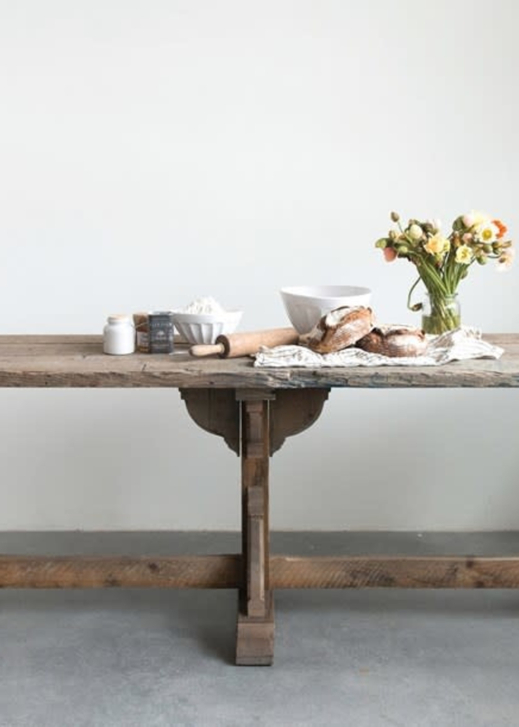 """97""""L x 29-1/4""""W x 30-1/2""""H Reclaimed Wood Table"""