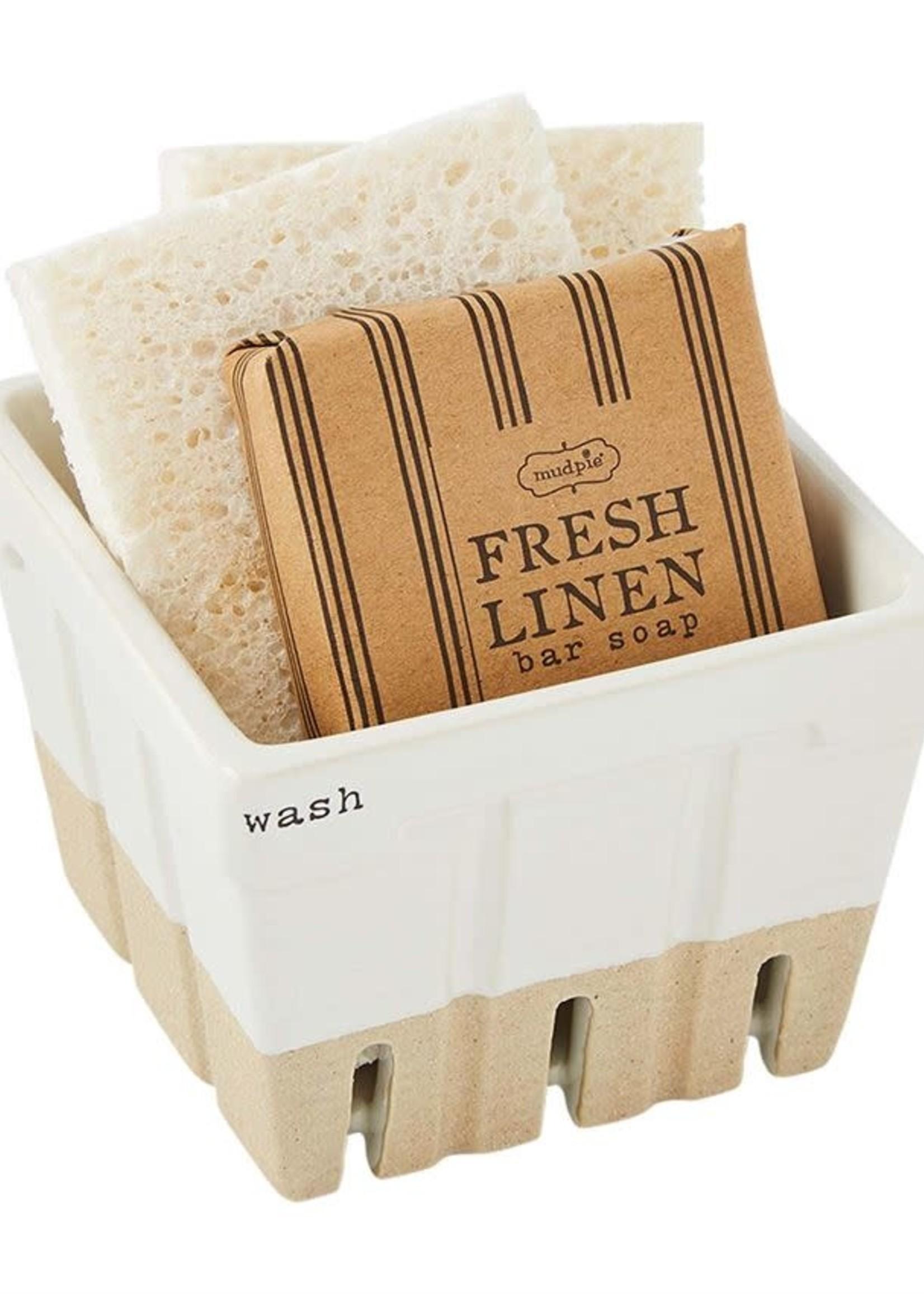 Wash Soap & Sponge Basket