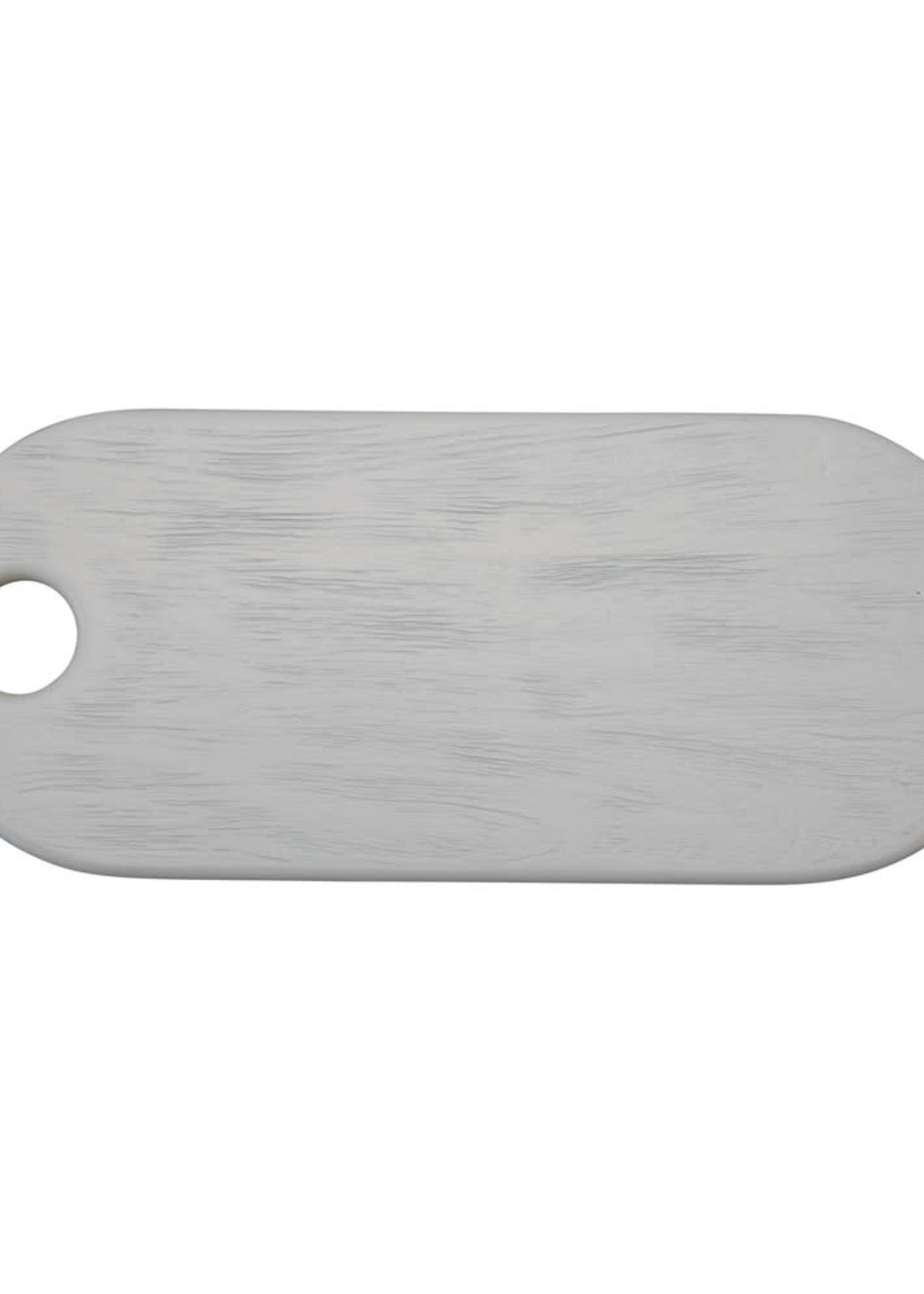 Acacia Wood Cheese/Cutting Board, Combed White Finish