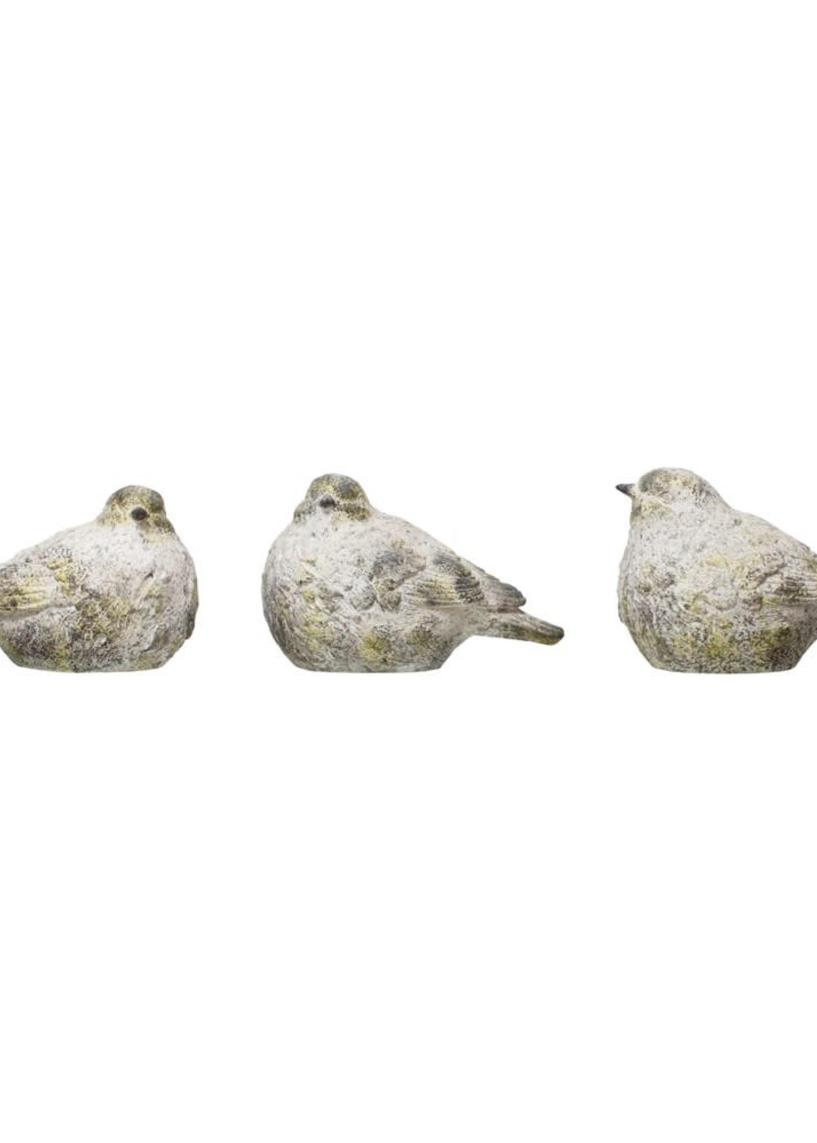 Resin Bird, Cement Moss Finish, 3 Styles