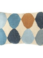 Woven Wool Blend Pattern Lumbar Pillow, Multi Color