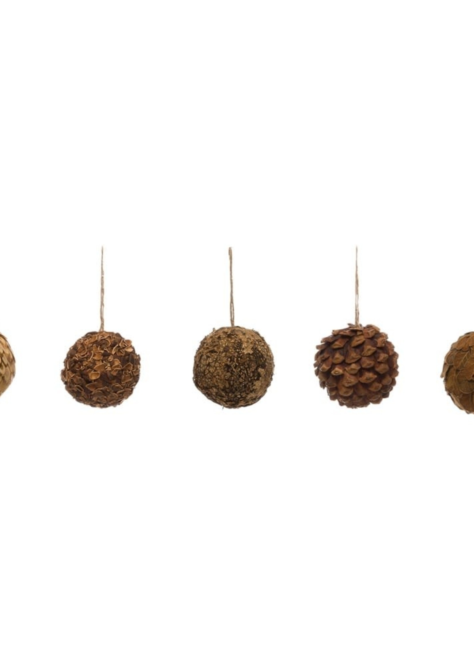 Round Dried Natural Greenery Ball Ornament, 5 Styles