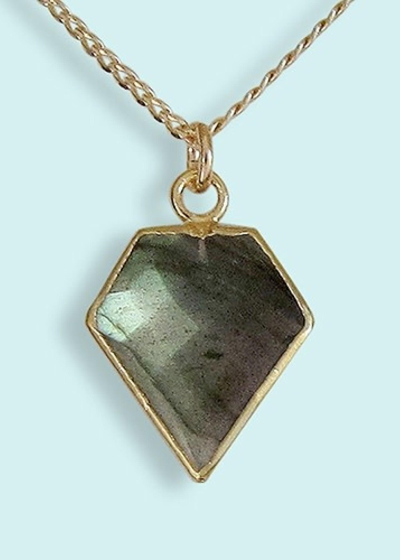 Labradorite Pentagon Necklace