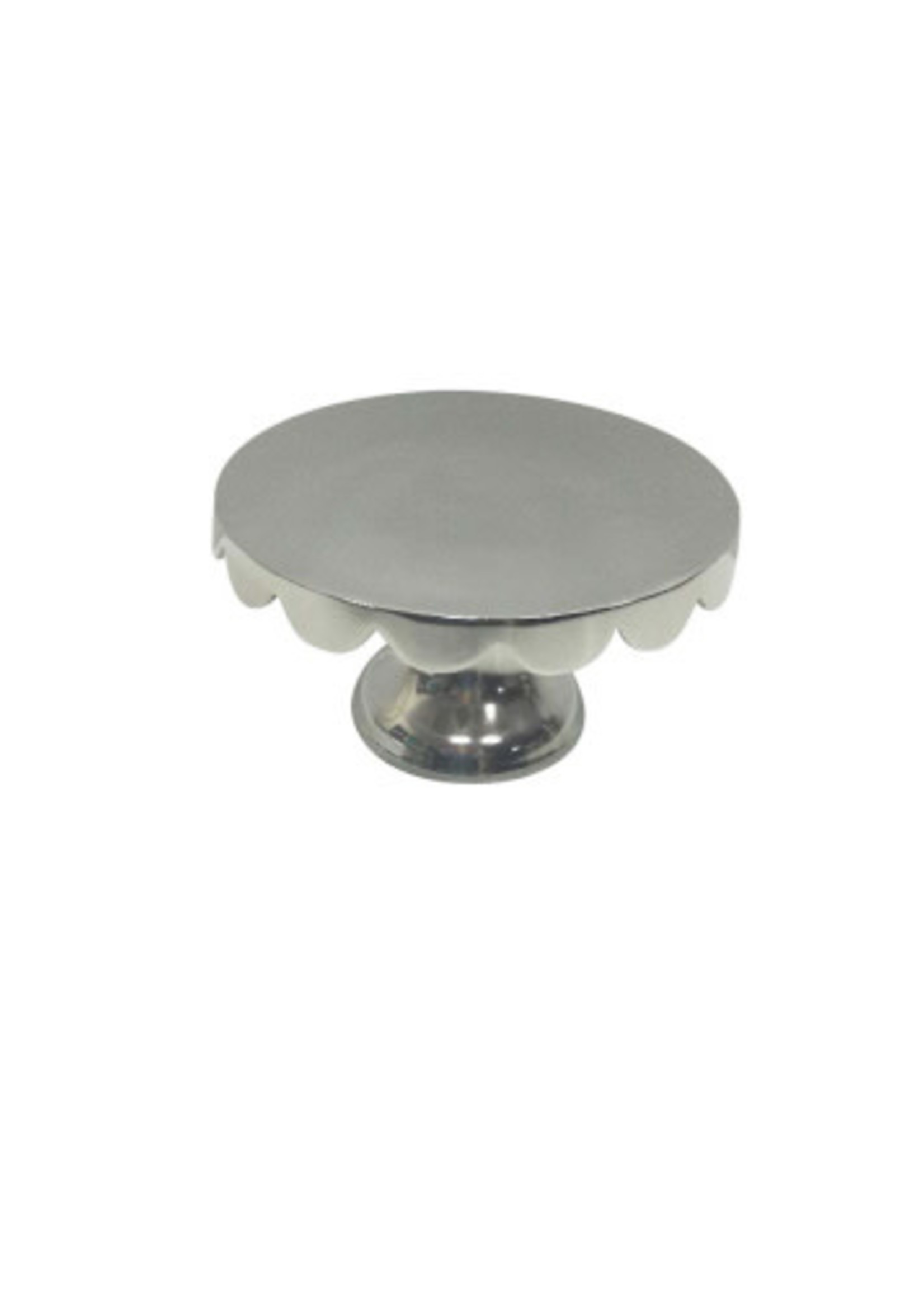 X-Small Polished Aluminum Cake Plate - Nickel