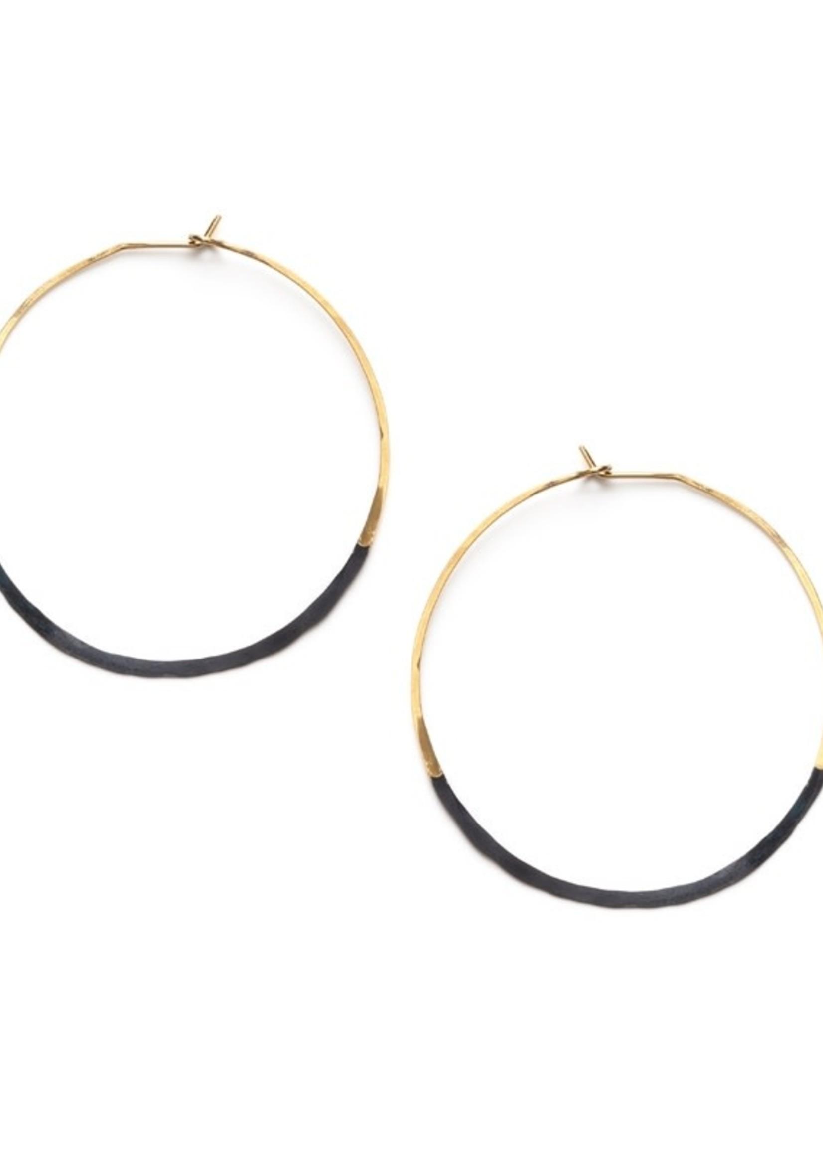 Mind's Eye Design Patina Dipped Circle Hoops