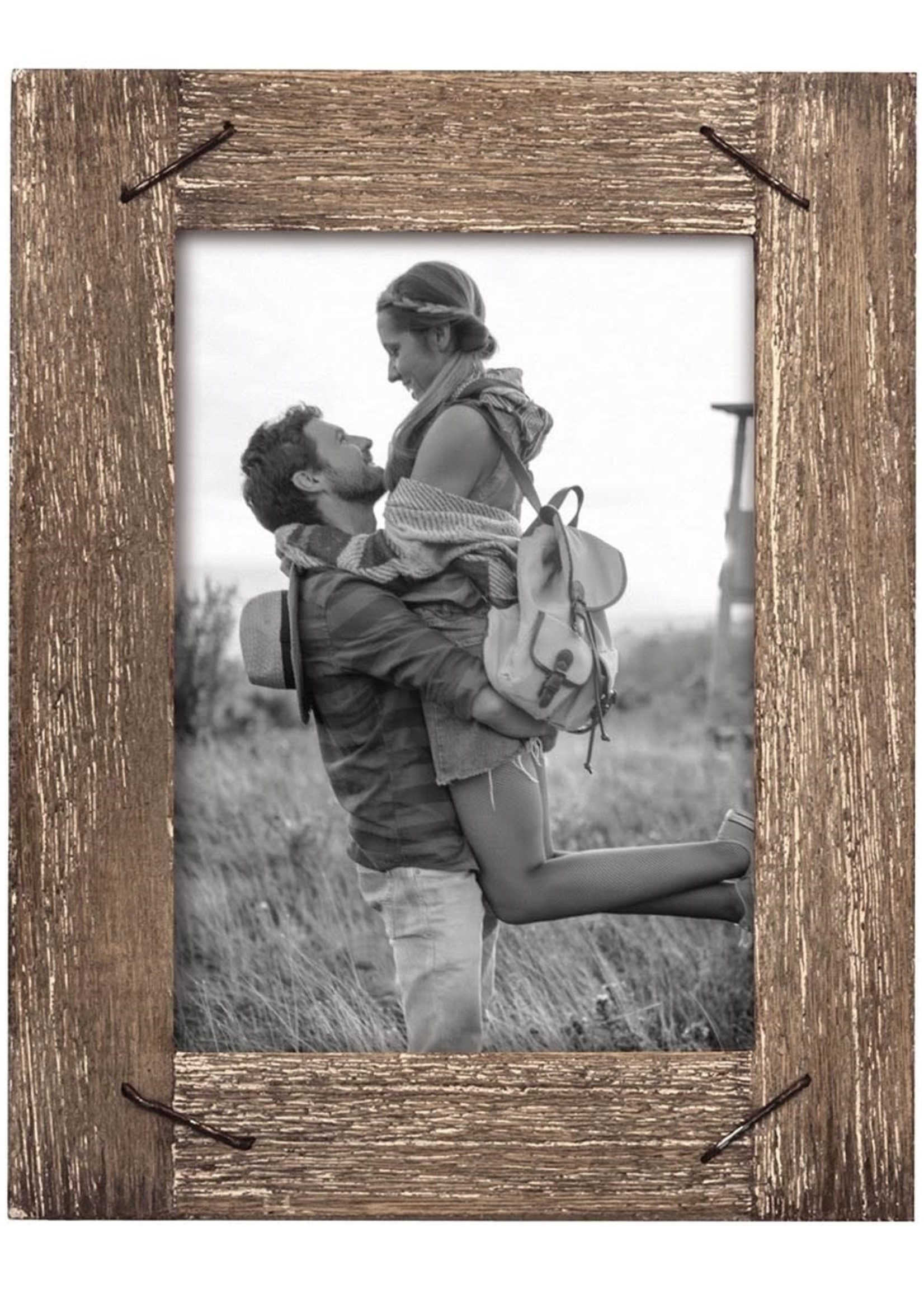 4 x 6 Weathered Frame w/ Nail Accents