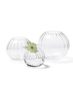 Magenta Citrine Optic Orb Vase - Set of 3