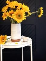 Gravesco Pottery Cylinder Large Vase - WHITE