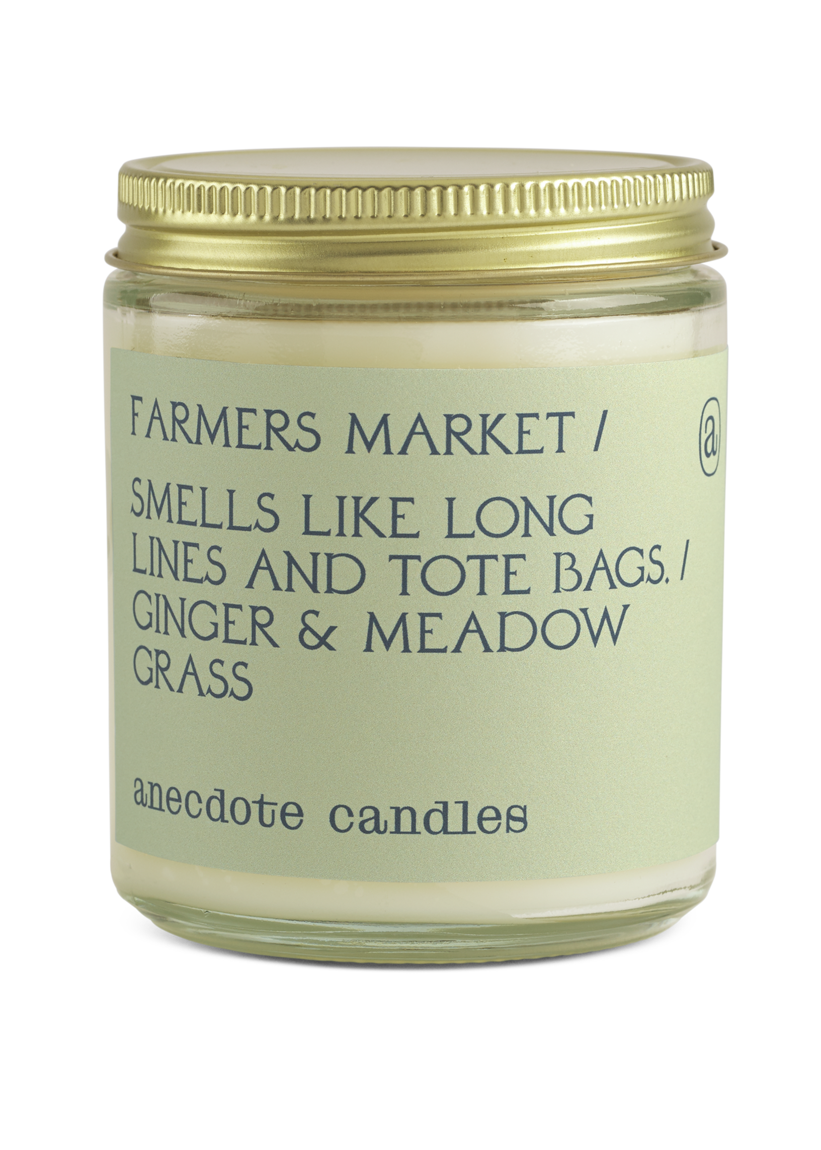 Farmers Market (Ginger & Meadow Grass) Glass Jar Candle