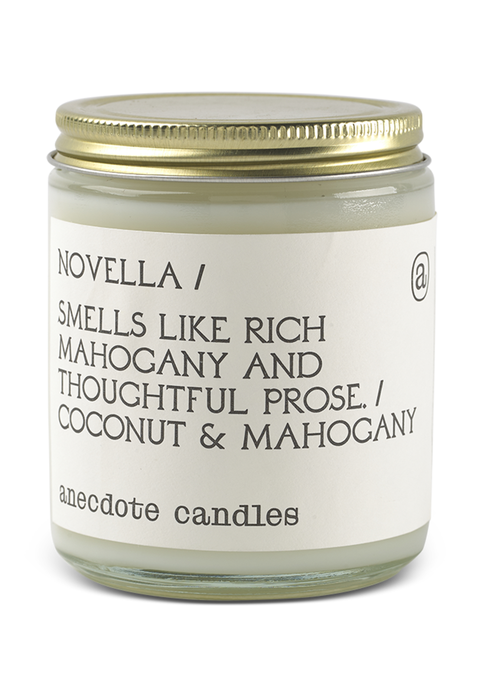Anecdote Candles Novella (Mahogany & Coconut) Glass Jar Candle