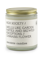 Anecdote Candles High Society (Cannabis Flower) Glass Jar Candle