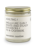Anecdote Candles Adulting (Fig & Cashmere) Glass Jar Candle