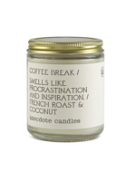 Anecdote Candles Coffee Break (French Roast & Coconut) Glass Jar Candle