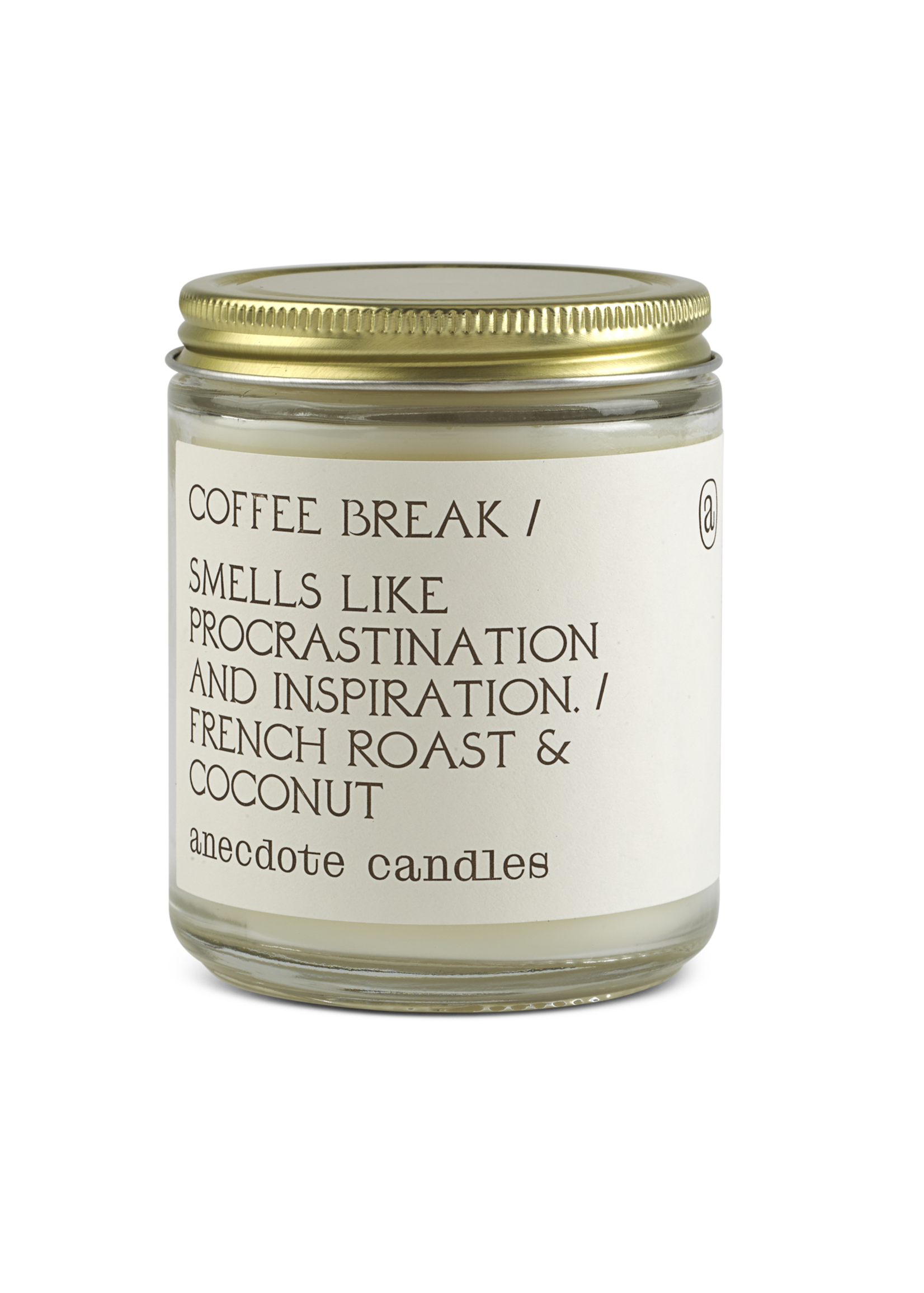 Coffee Break (French Roast & Coconut) Glass Jar Candle