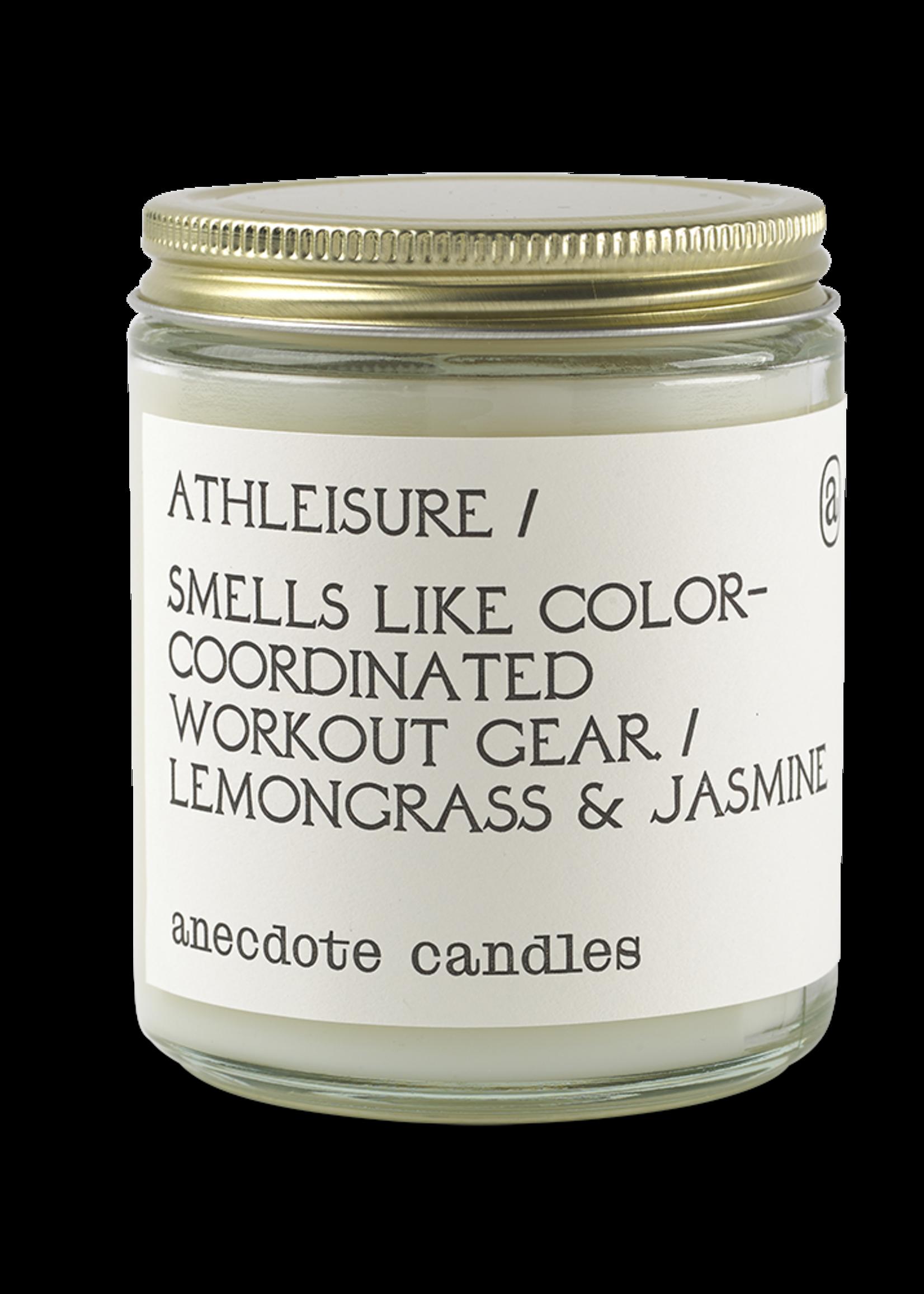 Anecdote Candles Athleisure (Lemongrass & Jasmine) Glass Jar Candle