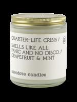 Anecdote Candles Quarter-life Crisis (Grapefruit & Mint) Glass Jar Candle