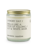 Anecdote Candles Laundry Day (Lily & White Musk) Glass Jar Candle