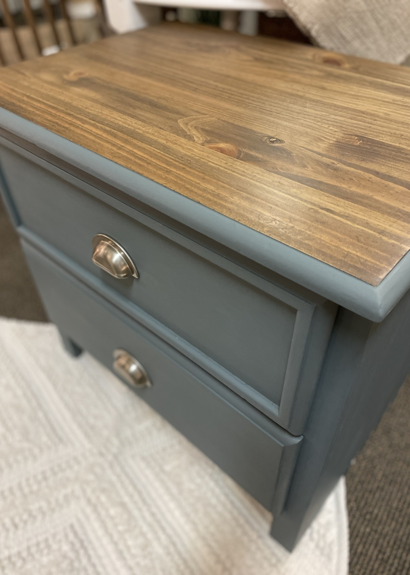 Hand painted/Reimagined Nightstand Side Table 26x18x24.5