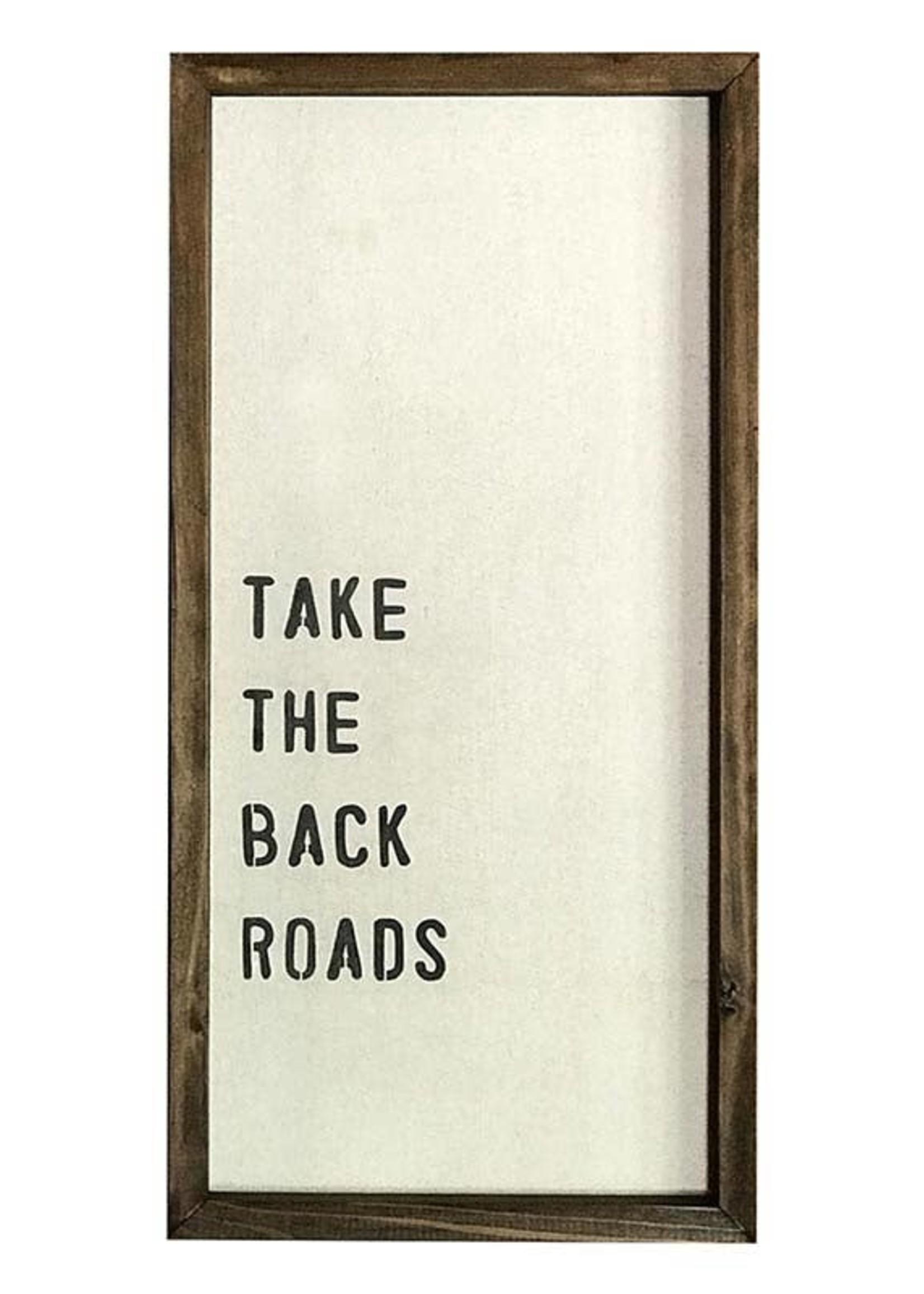 Back Roads Framed Wall Decor