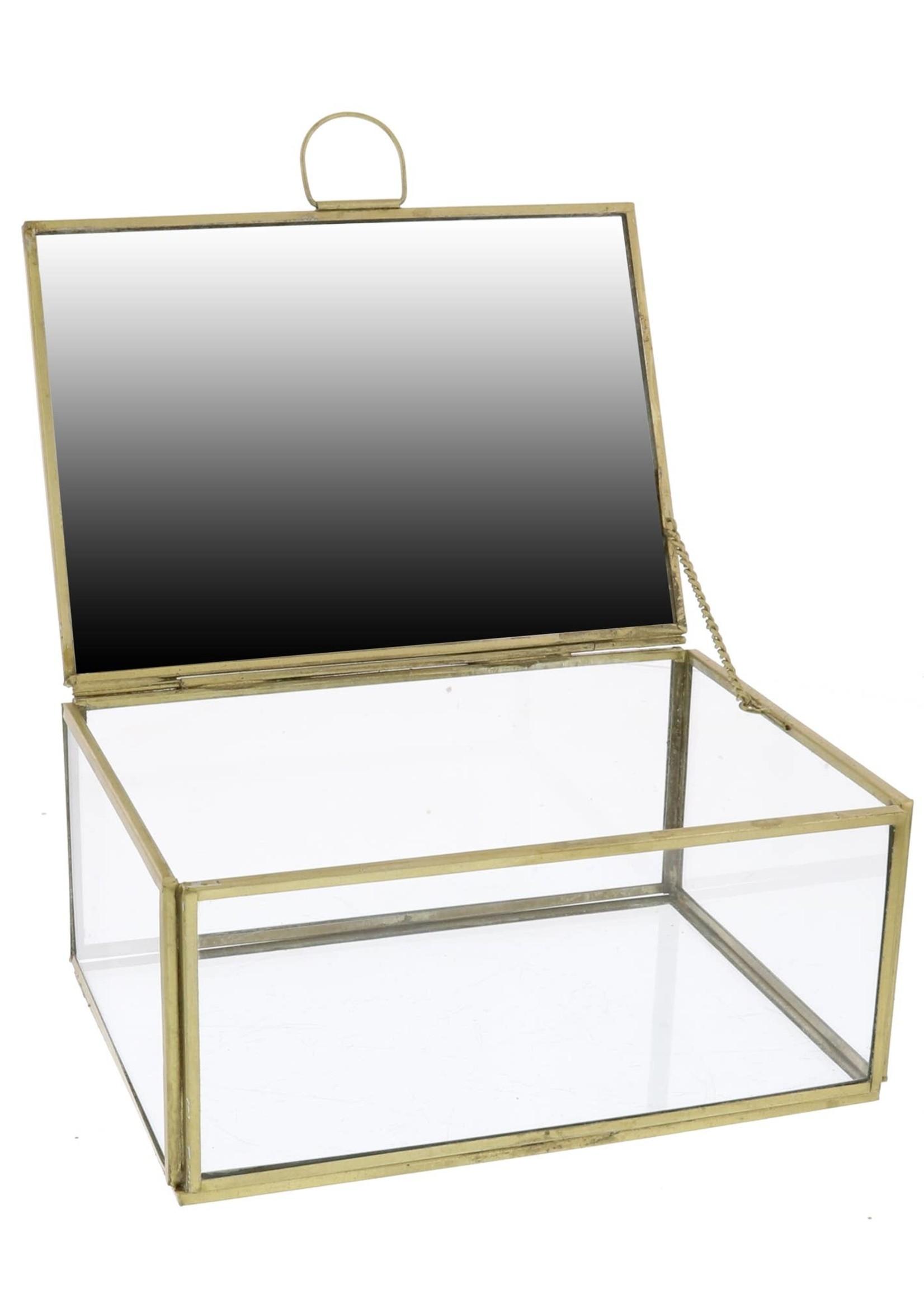 HomArt Jewelry Box with Mirror - Lrg - Brass