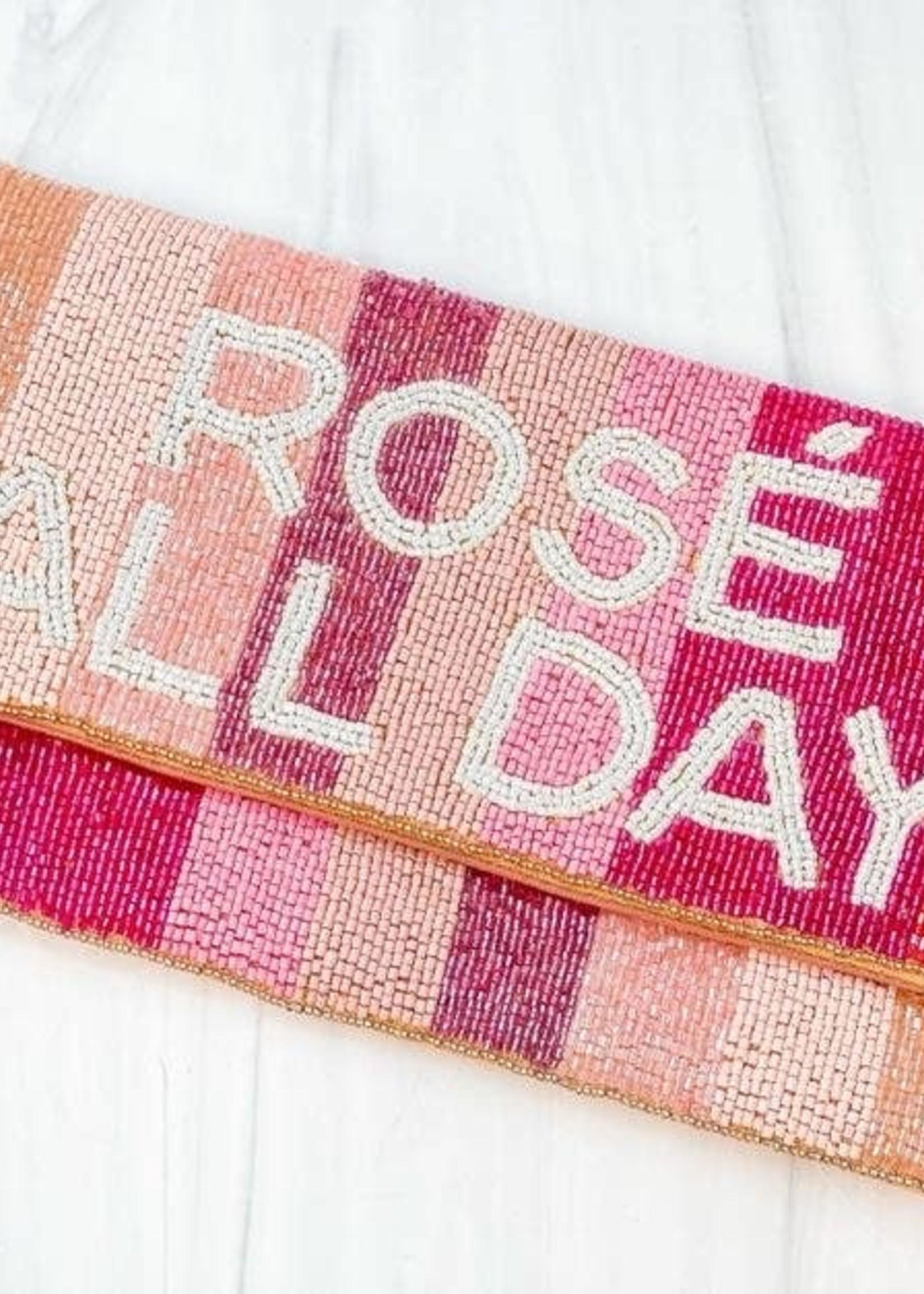 Rosé All Day Beaded Clutch Beaded Clutch/Crossbody
