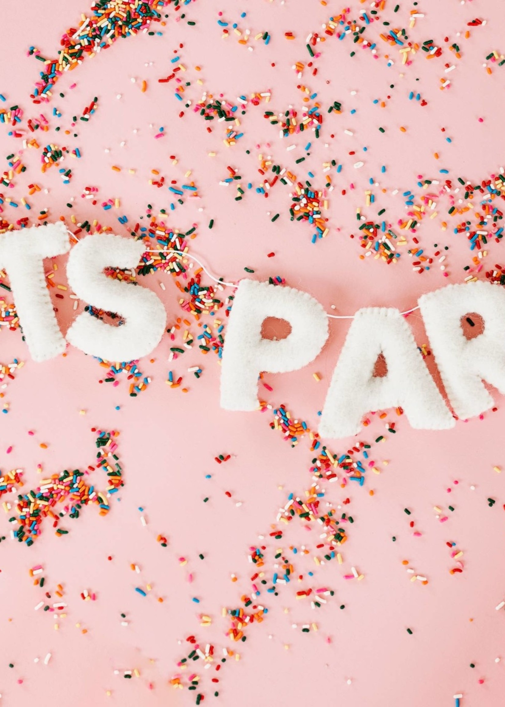 The Whimsical Woolies Party Felt Letter Garland