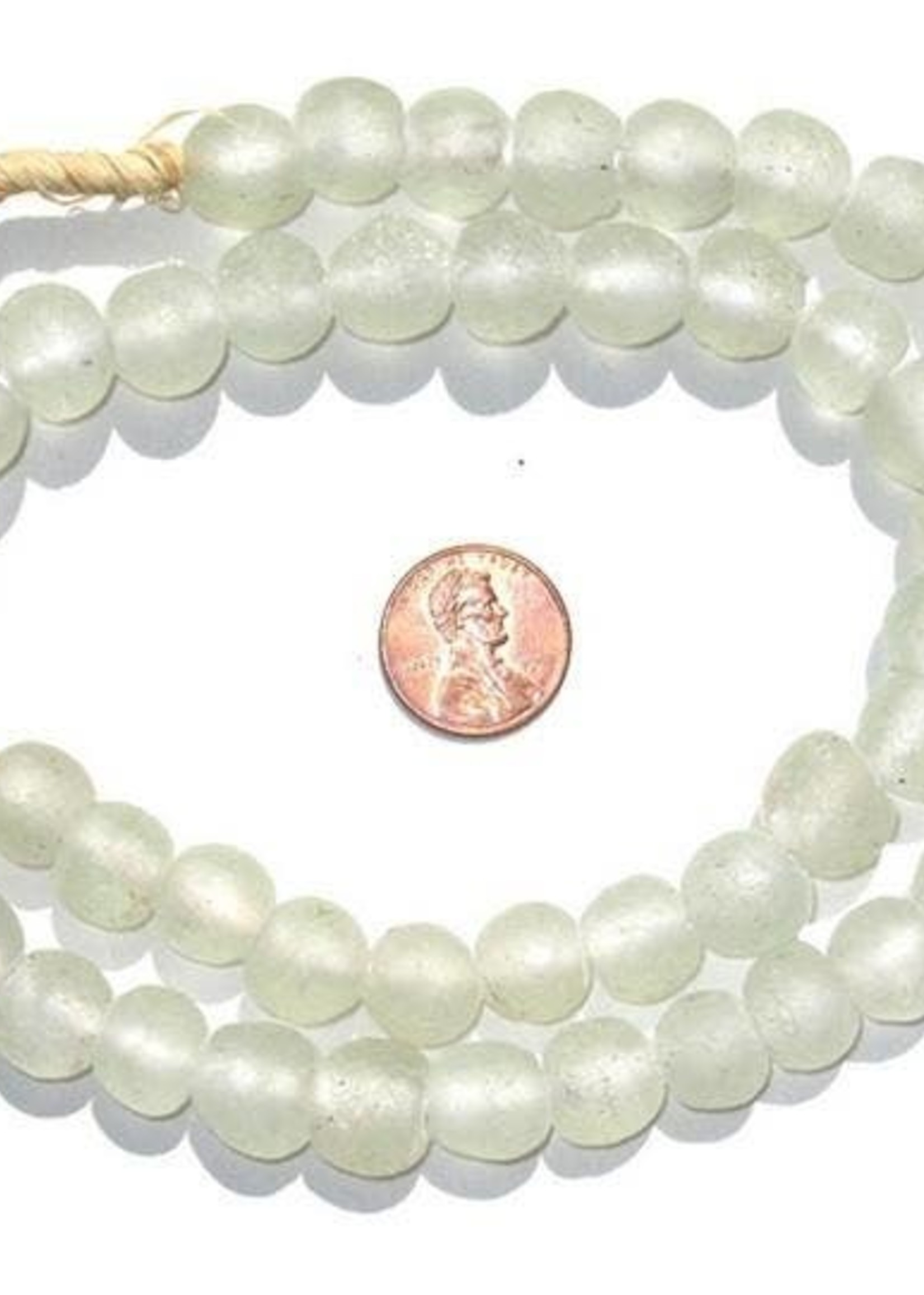 14mm Clear Recycled Glass Beads
