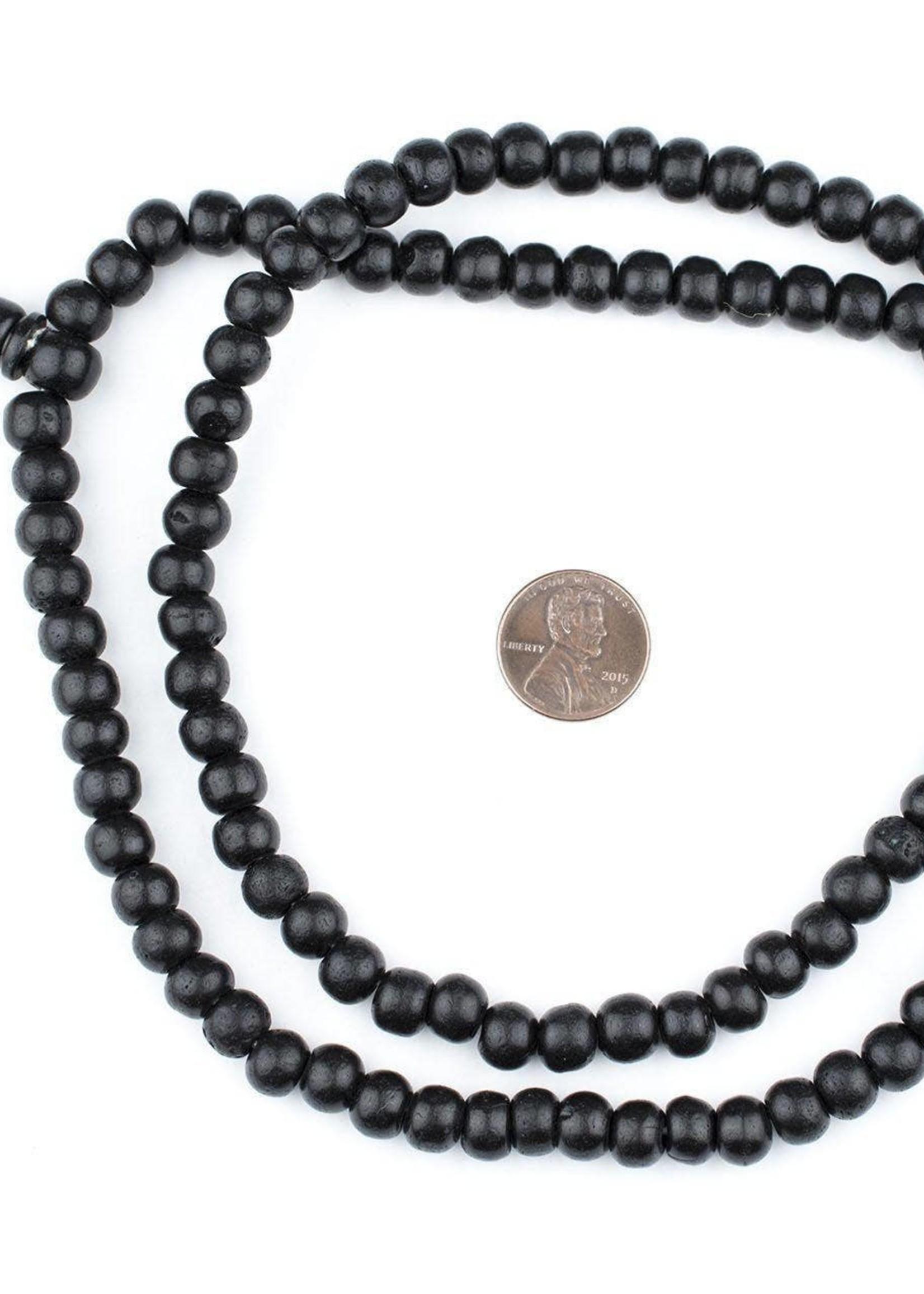 8mm Black Bone Mala Beads