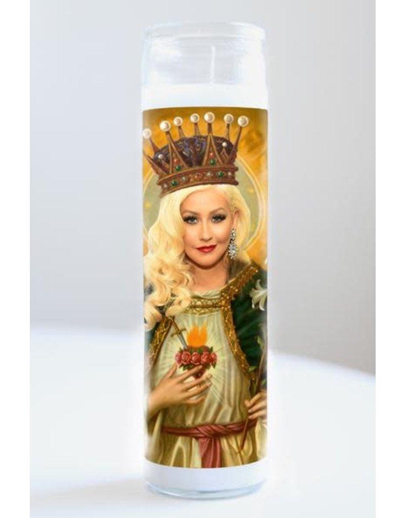 Illuminidol Saint Christina Aguilera Prayer Candle Unscented