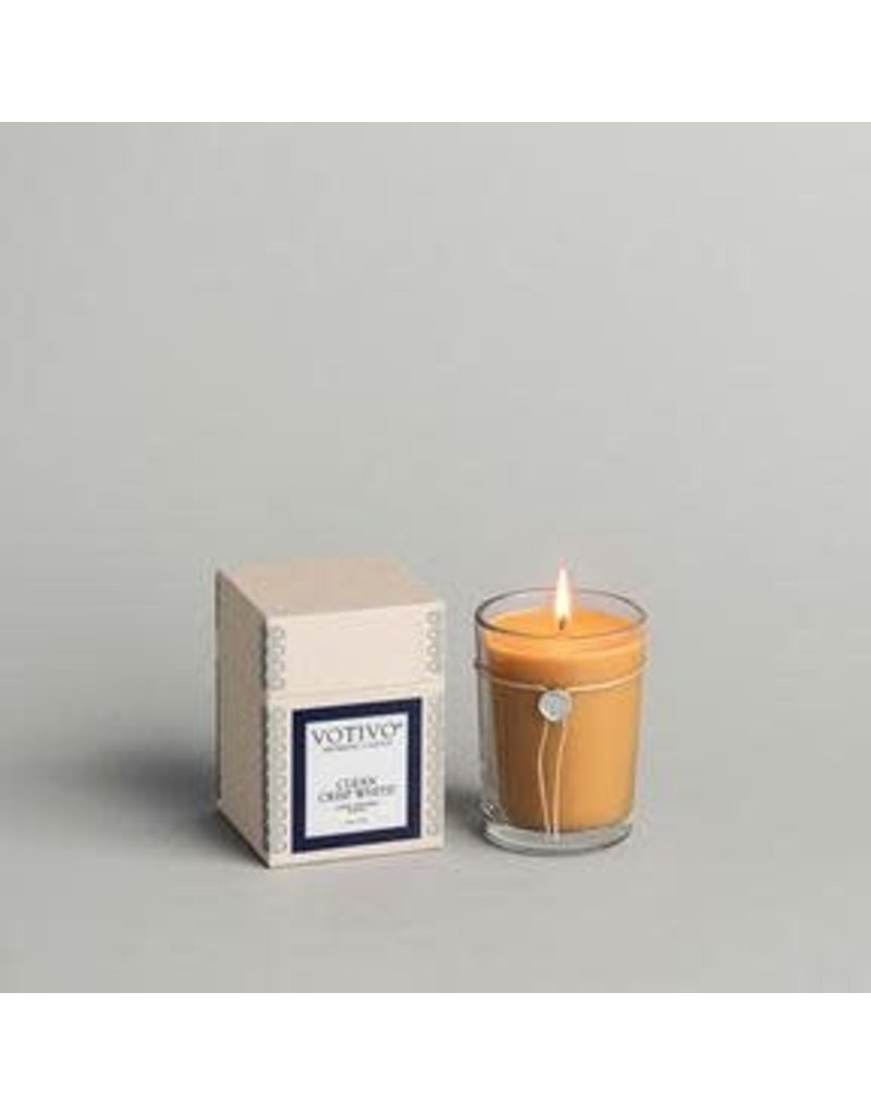 Votivo 6.8 oz Clean Crisp White Candle