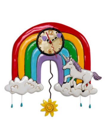 Allen Designs Rainbows & Unicorns Clock