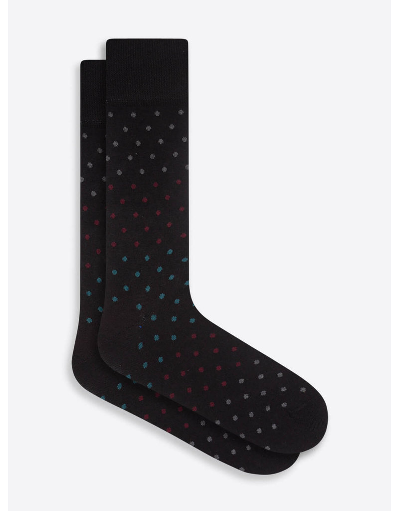 Bugatchi Mid-Calf Socks BLACK