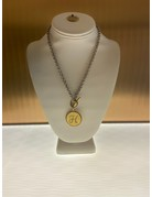 John Wind Toggle Sorority Gal Initial Necklaces Two-Tone H