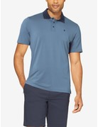 Tommy John Men's Go Anywhere Un-tucked Polo Bering Sea Large