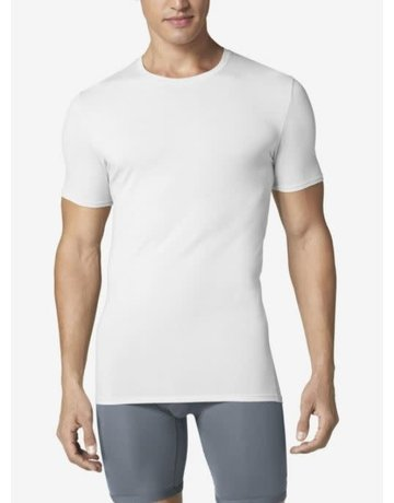 Tommy John Men's Cool Cotton Crew Neck Undershirt 2.0 White Small