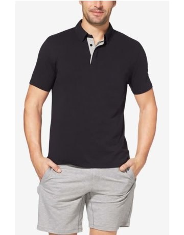 Tommy John Men's Comfort Polo Black Medium