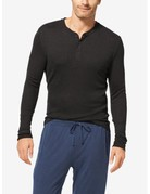 Tommy John Men's Lounge Henley Charcoal Heather Small
