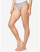 Tommy John Women's Air Mesh Thong Silver Sconce Large