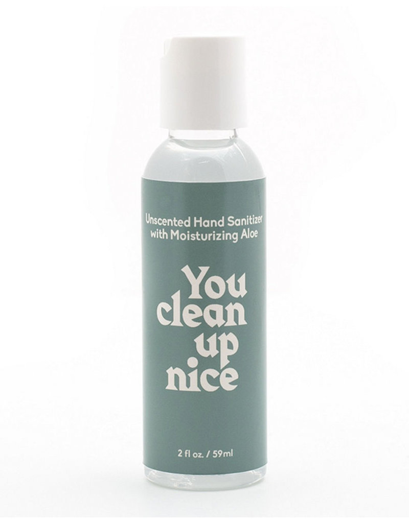 Paddywax ''You Clean Up Nice'' 2 OZ Unscented Hand Sanitizer + Aloe