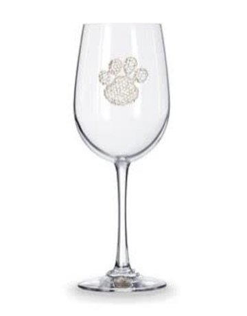 The Queen Jewels Paw Print- Stemmed