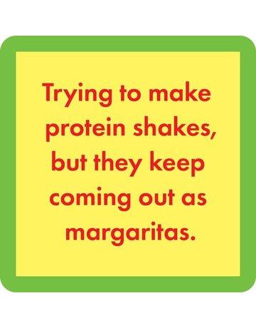 Iamtra/ Drinks on Me Coasters Protein shakes  coaster